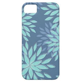 Aquamarine blaue Blüten-abstrakter Kasten iPhone5 iPhone 5 Cover