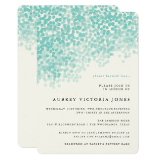 Aquamarine blaue helle 12,7 x 17,8 cm einladungskarte