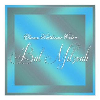 Aquamarine blaue Schläger Mitzvah Einladungen