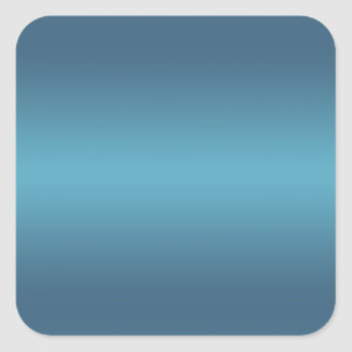 Aquamarine blaue Steigung - kundengebundene Quadratischer Aufkleber