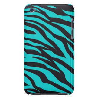 Aquamarine blaue Zebra-Streifen-wildes Tier druckt Barely There iPod Cover