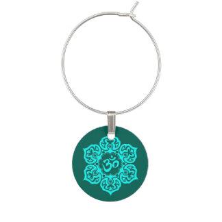 Aquamarine blauer Lotos-Blume OM Glasmarker