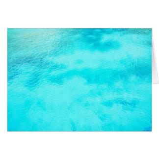 Aquamarine-blaues Wasser-freier Raum gefaltete Karte