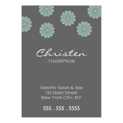 aquamarine Blumengeschäftskarten Visitenkarten Vorlagen