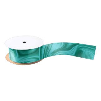 Aquamarine flüssige Marmorseide Satinband