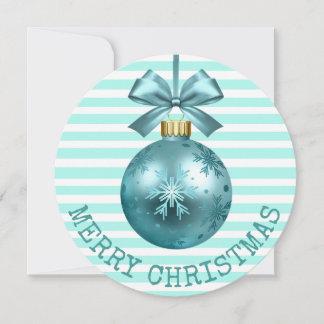 Aquamarine frohe Weihnacht-personalisierte Karte