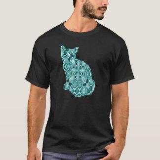 Aquamarine gemusterte Katze T-Shirt
