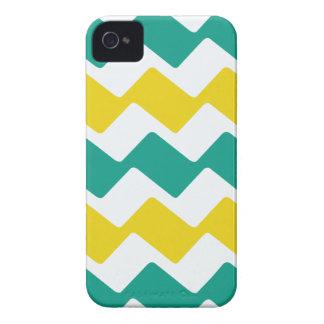 Aquamarine gewellte Sparren iPhone 4 Cover