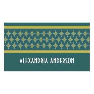 Aquamarine göttliche Diamant-Geschäfts-Karten Visitenkarten
