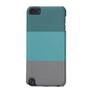 Aquamarine, graue Streifen iPod Touch 5G Hülle