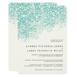 Aquamarine helle rustikale Hochzeits-Einladungen 12,7 X 17,8 Cm Einladungskarte