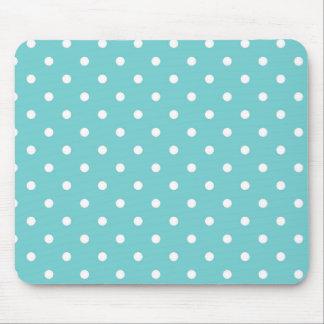 Aquamarine Himmel-Polka-Punkt-Mausunterlage Mousepads