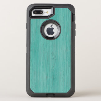 Aquamarine-hölzerner Korn-Bambusblick OtterBox Defender iPhone 8 Plus/7 Plus Hülle