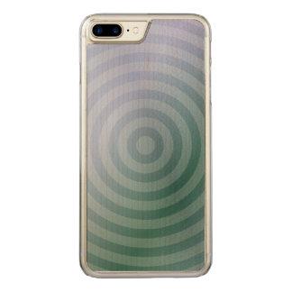 Aquamarine konzentrische Ringe Carved iPhone 8 Plus/7 Plus Hülle