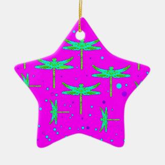 Aquamarine-Libellen-lila Träumen durch SHARLES Keramik Stern-Ornament