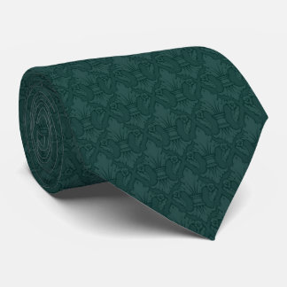 Aquamarine Lilien-Muster-Krawatte Bedruckte Krawatte