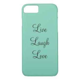 Aquamarine Livelachen-Liebe-Telefon-Abdeckung iPhone 7 Hülle