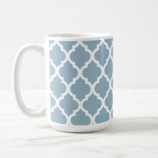 Aquamarine-marokkanisches Fliesen-Gitter Kaffeetasse