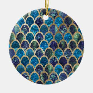 Aquamarine Meerjungfrauskalen Keramik Ornament