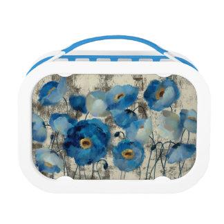 Aquamarine mit Blumen Brotdose