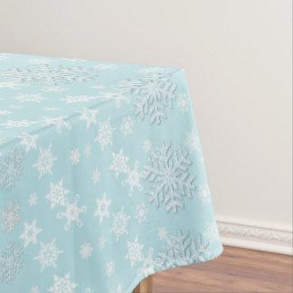 Aquamarine mit Schneeflocke-Feiertags-Tischdecke Tischdecke