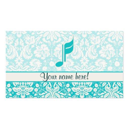 Aquamarine Musik-Anmerkung Visitenkarten