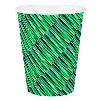 Aquamarine-Ozean-Stripy Muster Pappbecher