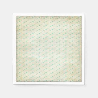 Aquamarine Pfeile mit Stern-Papierservietten Servietten