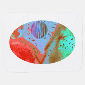 aquamarine Planeten des orange Rotes, die Plakat Puckdecke