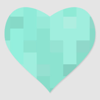 Aquamarine plus Zeichen Herz-Aufkleber