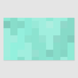 Aquamarine plus Zeichen Rechteckiger Aufkleber