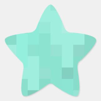 Aquamarine plus Zeichen Stern-Aufkleber