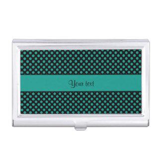 Aquamarine Polka-Punkte Visitenkarten Etui
