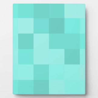 Aquamarine-Quadrate Fotoplatte