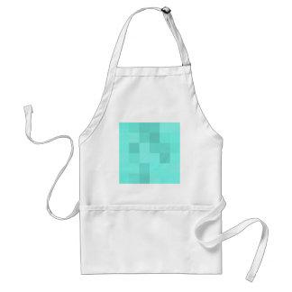 Aquamarine-Quadrate Schürze
