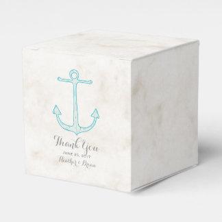 Aquamarine rustikale Anker-Hochzeit Geschenkschachtel
