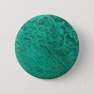 Aquamarine Spitze Runder Button 5,1 Cm