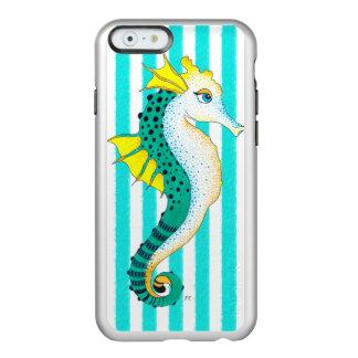 aquamarine Streifen des Seepferds Incipio Feather® Shine iPhone 6 Hülle
