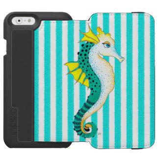 aquamarine Streifen des Seepferds Incipio Watson™ iPhone 6 Geldbörsen Hülle