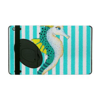 aquamarine Streifen des Seepferds iPad Hülle