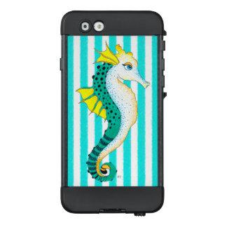 aquamarine Streifen des Seepferds LifeProof NÜÜD iPhone 6 Hülle