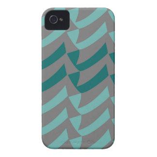 Aquamarine und Aqua-Grau-Karos iPhone 4 Cover
