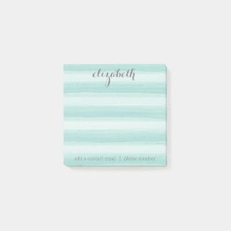 Aquamarine und graue Briefpapier-Pastellreihe für Post-it Klebezettel