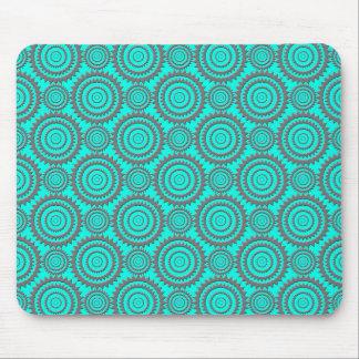 Aquamarine und graue geometrische mousepad