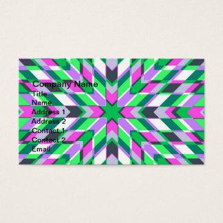 Aquamarine und rosa Fraktale Visitenkarte