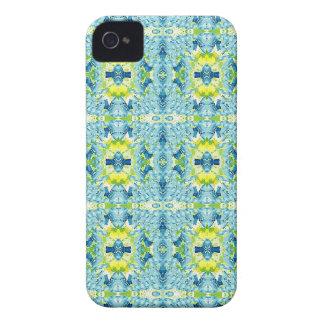 Aquamarine Zitronen-künstlerisches geometrisches iPhone 4 Case-Mate Hülle