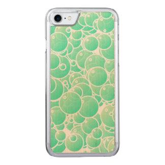 Aquamarineblasen Carved iPhone 8/7 Hülle