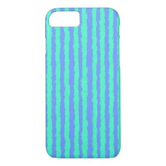 Aquamarineöl-Pastellstreifen auf Blau iPhone 8/7 Hülle