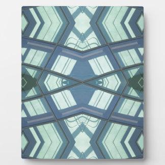 Aquamariner Aquamarine-zeitgenössische lineare Fotoplatte