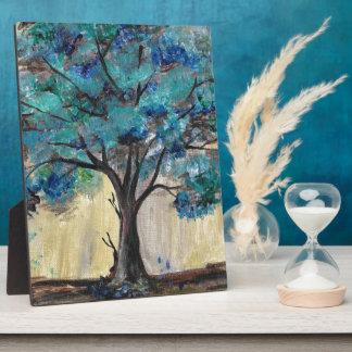 Aquamariner Baum Fotoplatte